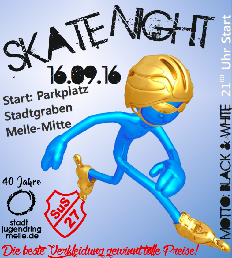 Skate Night Melle Nightskaten 2016