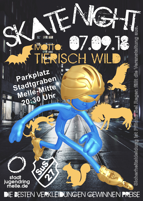Skate Night 2018 Melle Plakat